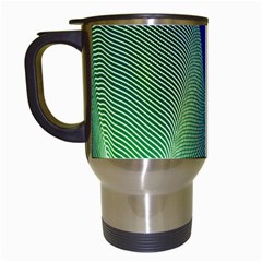 Light Means Net Pink Rainbow Waves Wave Chevron Green Blue Travel Mugs (white) by Mariart