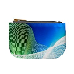 Light Means Net Pink Rainbow Waves Wave Chevron Green Blue Mini Coin Purses