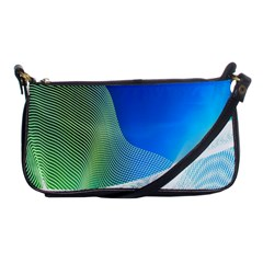 Light Means Net Pink Rainbow Waves Wave Chevron Green Blue Shoulder Clutch Bags