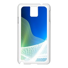Light Means Net Pink Rainbow Waves Wave Chevron Green Blue Samsung Galaxy Note 3 N9005 Case (white) by Mariart