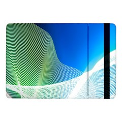 Light Means Net Pink Rainbow Waves Wave Chevron Green Blue Samsung Galaxy Tab Pro 10 1  Flip Case by Mariart
