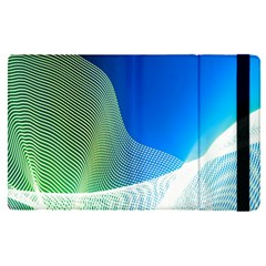 Light Means Net Pink Rainbow Waves Wave Chevron Green Blue Apple Ipad Pro 9 7   Flip Case by Mariart