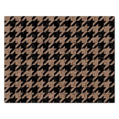 Houndstooth1 Black Marble & Brown Colored Pencil Jigsaw Puzzle (rectangular) by trendistuff