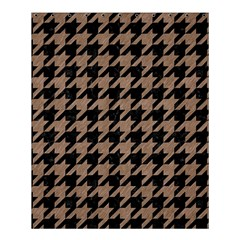 Houndstooth1 Black Marble & Brown Colored Pencil Shower Curtain 60  X 72  (medium) by trendistuff