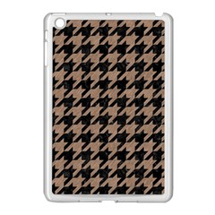 Houndstooth1 Black Marble & Brown Colored Pencil Apple Ipad Mini Case (white) by trendistuff