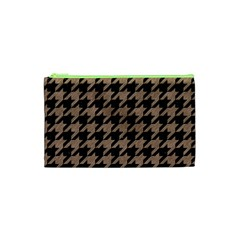 Houndstooth1 Black Marble & Brown Colored Pencil Cosmetic Bag (xs) by trendistuff