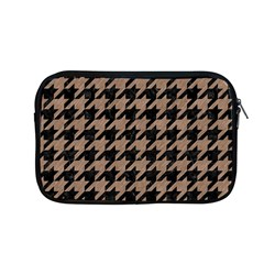 Houndstooth1 Black Marble & Brown Colored Pencil Apple Macbook Pro 13  Zipper Case by trendistuff