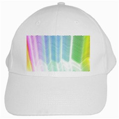 Light Means Net Pink Rainbow Waves Wave Chevron Green White Cap by Mariart