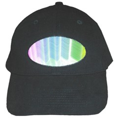 Light Means Net Pink Rainbow Waves Wave Chevron Green Black Cap by Mariart