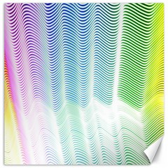 Light Means Net Pink Rainbow Waves Wave Chevron Green Canvas 20  X 20   by Mariart