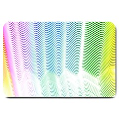Light Means Net Pink Rainbow Waves Wave Chevron Green Large Doormat