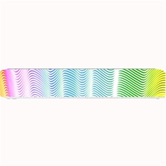 Light Means Net Pink Rainbow Waves Wave Chevron Green Small Bar Mats by Mariart