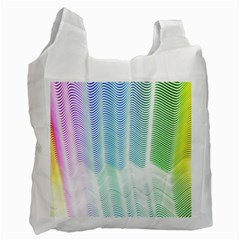 Light Means Net Pink Rainbow Waves Wave Chevron Green Recycle Bag (one Side) by Mariart