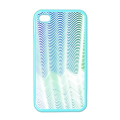 Light Means Net Pink Rainbow Waves Wave Chevron Green Apple Iphone 4 Case (color)
