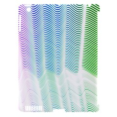 Light Means Net Pink Rainbow Waves Wave Chevron Green Apple Ipad 3/4 Hardshell Case (compatible With Smart Cover) by Mariart