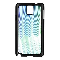 Light Means Net Pink Rainbow Waves Wave Chevron Green Samsung Galaxy Note 3 N9005 Case (black) by Mariart