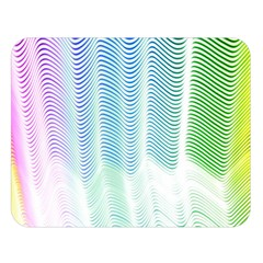 Light Means Net Pink Rainbow Waves Wave Chevron Green Double Sided Flano Blanket (large)  by Mariart