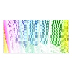 Light Means Net Pink Rainbow Waves Wave Chevron Green Satin Shawl by Mariart