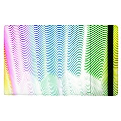 Light Means Net Pink Rainbow Waves Wave Chevron Green Apple Ipad Pro 9 7   Flip Case by Mariart