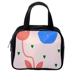 Lip Sexy Flower Tulip Heart Pink Red Blue Green Love Classic Handbags (one Side) by Mariart