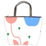 Lip Sexy Flower Tulip Heart Pink Red Blue Green Love Bucket Bags Front