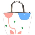 Lip Sexy Flower Tulip Heart Pink Red Blue Green Love Bucket Bags Back