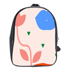 Lip Sexy Flower Tulip Heart Pink Red Blue Green Love School Bags(large)