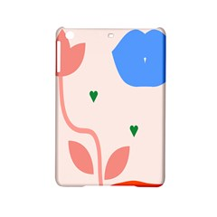 Lip Sexy Flower Tulip Heart Pink Red Blue Green Love Ipad Mini 2 Hardshell Cases by Mariart