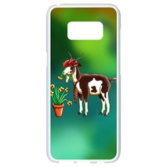 Billy Goat Phone Cases Samsung Galaxy S8 White Seamless Case