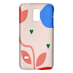 Lip Sexy Flower Tulip Heart Pink Red Blue Green Love Galaxy S5 Mini by Mariart