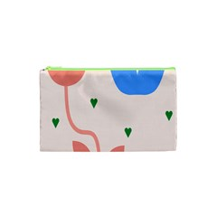 Lip Sexy Flower Tulip Heart Pink Red Blue Green Love Cosmetic Bag (xs) by Mariart