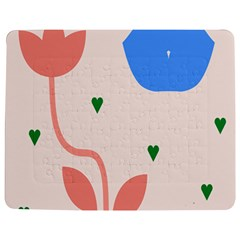 Lip Sexy Flower Tulip Heart Pink Red Blue Green Love Jigsaw Puzzle Photo Stand (rectangular)