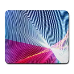 Light Means Net Pink Rainbow Waves Wave Chevron Red Large Mousepads by Mariart
