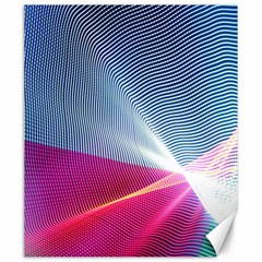 Light Means Net Pink Rainbow Waves Wave Chevron Red Canvas 20  X 24