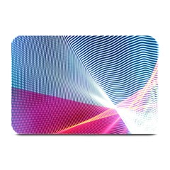 Light Means Net Pink Rainbow Waves Wave Chevron Red Plate Mats