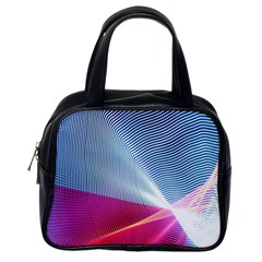 Light Means Net Pink Rainbow Waves Wave Chevron Red Classic Handbags (one Side) by Mariart