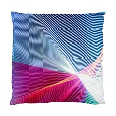 Light Means Net Pink Rainbow Waves Wave Chevron Red Standard Cushion Case (two Sides) by Mariart
