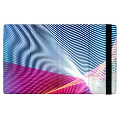 Light Means Net Pink Rainbow Waves Wave Chevron Red Apple Ipad 3/4 Flip Case by Mariart
