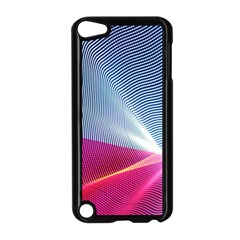 Light Means Net Pink Rainbow Waves Wave Chevron Red Apple Ipod Touch 5 Case (black) by Mariart