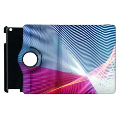 Light Means Net Pink Rainbow Waves Wave Chevron Red Apple Ipad 2 Flip 360 Case by Mariart