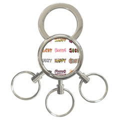 Lucky Happt Good Sign Star 3 Ring Key Chains