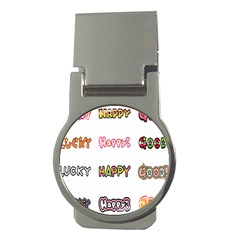 Lucky Happt Good Sign Star Money Clips (round)  by Mariart