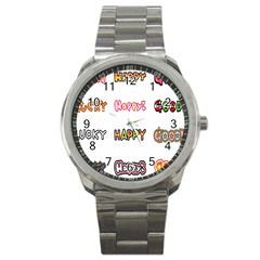 Lucky Happt Good Sign Star Sport Metal Watch by Mariart
