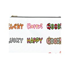 Lucky Happt Good Sign Star Cosmetic Bag (large)  by Mariart