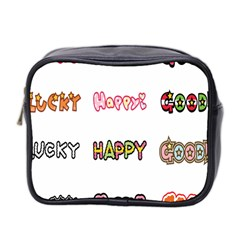 Lucky Happt Good Sign Star Mini Toiletries Bag 2 Side by Mariart