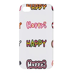 Lucky Happt Good Sign Star Apple Iphone 4/4s Hardshell Case by Mariart