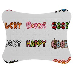 Lucky Happt Good Sign Star Jigsaw Puzzle Photo Stand (bow)