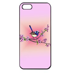 Little Blue Wren Apple Iphone 5 Seamless Case (black) by retz
