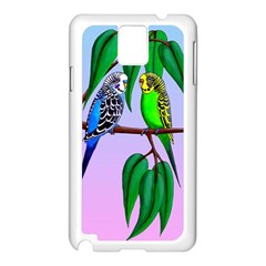 Budgies In The Gum Tree Samsung Galaxy Note 3 N9005 Case (white) by retz