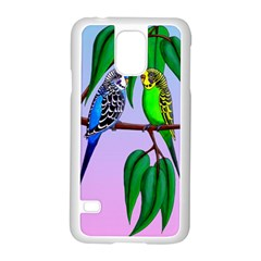 Budgies In The Gum Tree Samsung Galaxy S5 Case (white) by retz